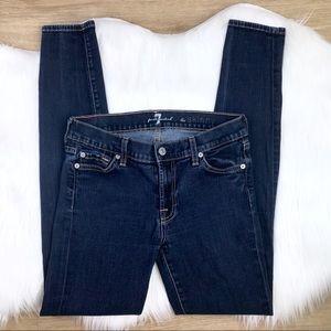 [7FAM] The Skinny Dark Wash Jeans size 27